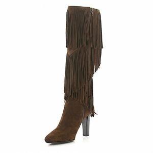 Saint Laurent Paris 100% leather tassel boots sz38